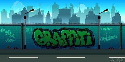 Fototapeta Graffiti stěna pozadí, městského umění
