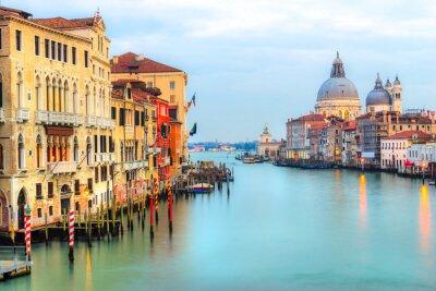 Fototapeta Grand Canal a baziliky Santa Maria della Salute, Benátky, Itálie