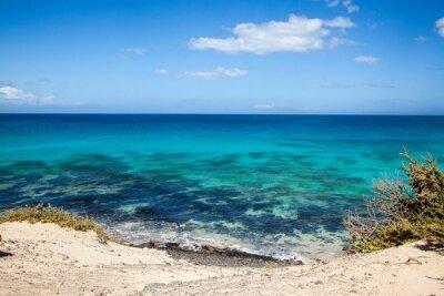 Fototapeta Grandes Playas de Corralejo na Fuerteventura, Kanárské ostrovy, Španělsko