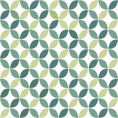 Fototapeta Green Geometric Retro Seamless Pattern