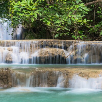 Fototapeta Green Waterfall