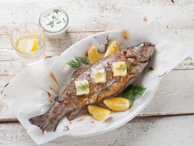 Fototapeta Grilované ryby