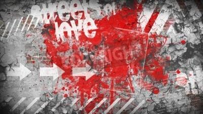 Fototapeta Grunge barevné pozadí. Ulice lásky