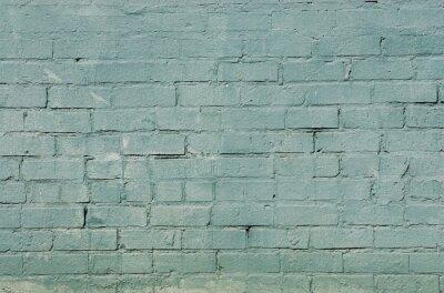Fototapeta grunge cihlová zeď pozadí s modrou barvou