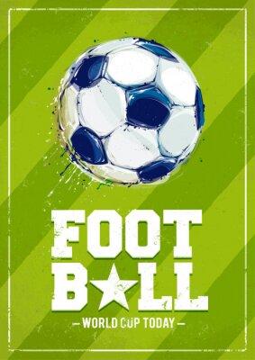 Fototapeta Grunge fotbal plakát