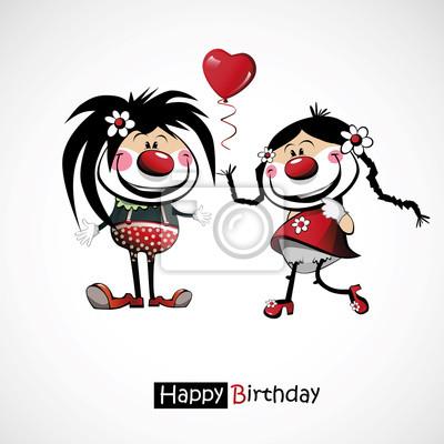 Happy Birthday Klaunu S Balonky Fototapeta Fototapety Mraky Klaun