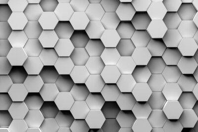 Fototapeta Hexagon pozadí 3d ilustrace