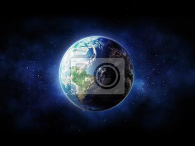 High Resolution Planeta Země pohled.