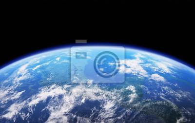 High Resolution Planeta Země pohled. Zeměkoule z vesmíru v