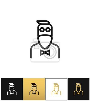 Hipster muž módní vector icon fototapeta • fototapety bederní ... b09a46297f