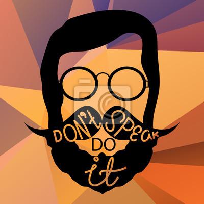 Hipster s motivujícím textem fototapeta • fototapety bederní 2dc561e92c
