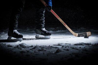 Fototapeta Hokejista. Nohy pouze zobrazit