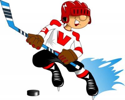 Fototapeta hokejista v bílém