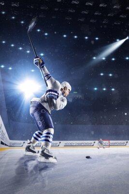 Fototapeta Hokejisté vystřelí puk a útoky