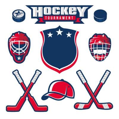 Fototapeta Hokejové logo, symbol, štítek, odznak designové prvky