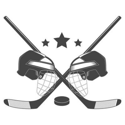 Fototapeta Hokejové soutěže chempionship vektor logo