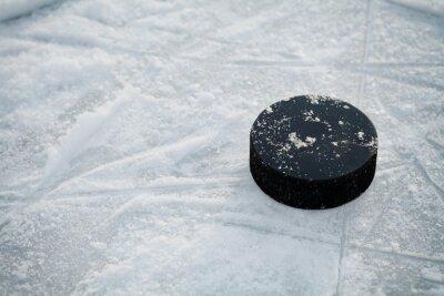 Fototapeta Hokejový puk na hokejové kluziště