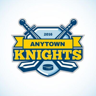 Fototapeta Hokejový rytířů logo týmu.