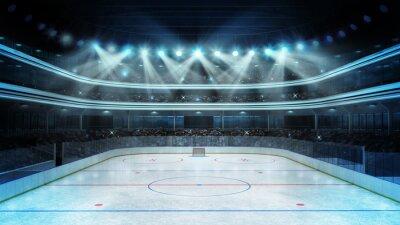 Fototapeta hokejový stadion s diváky a prázdný kluziště