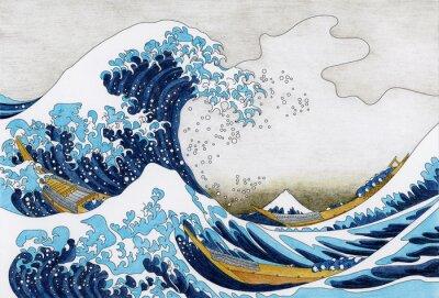 Fototapeta Hokusai Velká vlna z Kanagawa dospělé omalovánek
