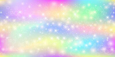 Fototapeta Holografické magické pozadí s pohádkovými jiskry, hvězdami a rozostřeními.
