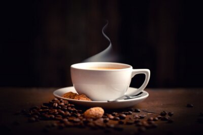 Fototapeta horké, čerstvá káva