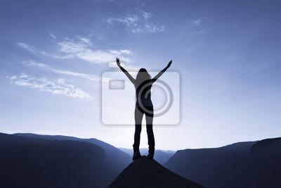 Fototapeta Horolezec na vrcholu