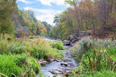 Fototapeta horská řeka na podzim