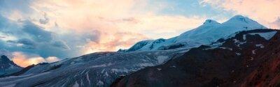 Fototapeta Horské slunce zimní panorama