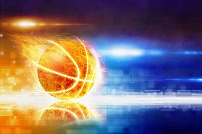 Fototapeta Hot pálení basketbal