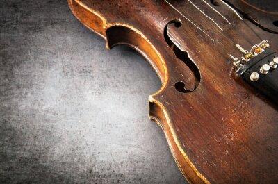 Fototapeta Housle hudební nástroj orchestr detailní