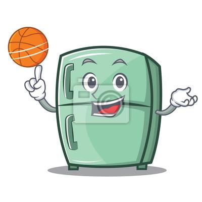 Hra Basketbal Roztomile Kreslene Kreslene Postavicky Fototapeta