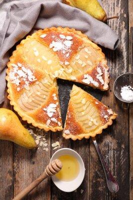 Fototapeta hruškový koláč s mandlemi