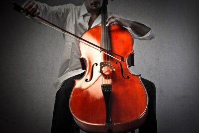 Fototapeta Hudebník hraje na violoncello
