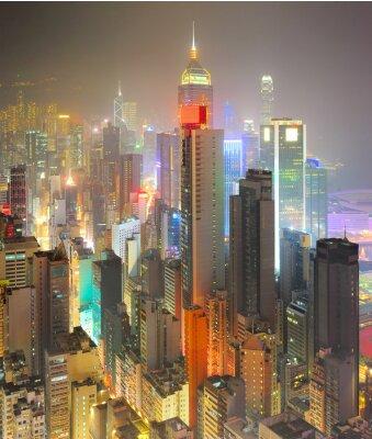Fototapeta Hustota Hong Kong
