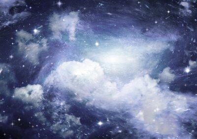 Fototapeta Hvězdné pole v prostoru a mlhoviny