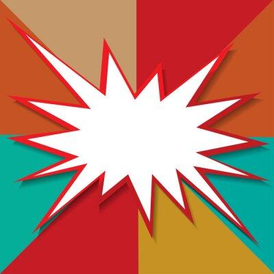 Fototapeta ikona boom pozadí vektorové ilustrace