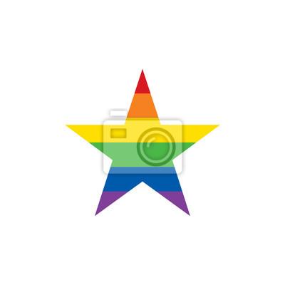 06dca0eff24 Ikona hvězdy. koncepce lgbt. vektorové ilustrace fototapeta ...