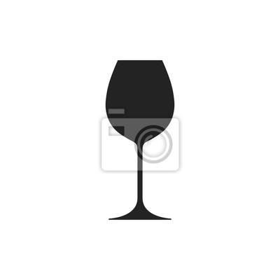 Fototapeta Ikona vína. Vektor.