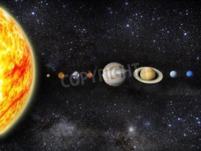 Fototapeta Ilustrace naší sluneční soustavy - 3D vykreslování mapy od http planetpixelemporium com