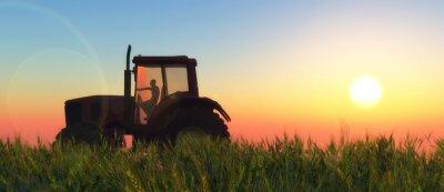 Fototapeta ilustrace traktoru oběhu
