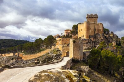 Fototapeta impozantní středověký hrad Alarcon, Španělsko