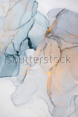 Fototapeta Incoust, barva, abstrakt. Detailní záběr na obraz. Barevné abstraktní malířské pozadí. Vysoce strukturovaná olejová barva. Vysoce kvalitní detaily.