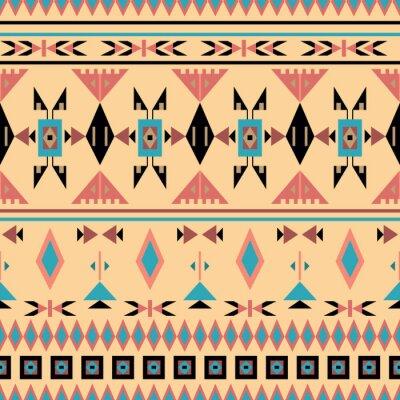 Fototapeta Indiáni, bezproblémové vzorek, vektorové ilustrace