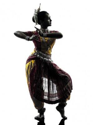 Fototapeta indická žena, tanečnice tančí siluetu