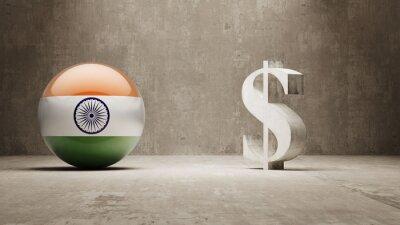 Indie. Peníze Sign koncept.