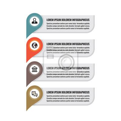 Fototapeta Infographic obchodní koncept - barevné vertikální vektor  bannery. Informace o umístění bannerů. Infographic a4608b87cd