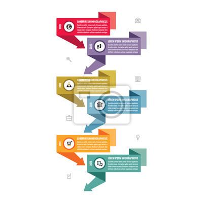 Fototapeta Infographic obchodní vektor koncept v obytném styl designu -  vertikální časová osa bannery pro prezentace f3f7b5cb4e