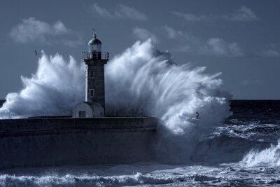 Fototapeta Infračervené bouřlivý maják