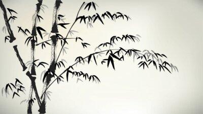 Fototapeta inkoust maloval bambus